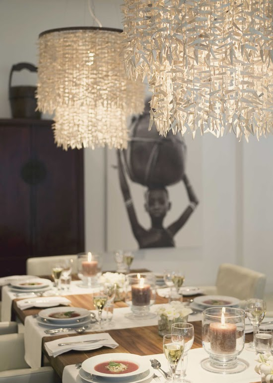 Safari Fusion blog | Light the way | Dining room at The Oyster Bay, Dar es Salaam Tanzania www.theoysterbayhotel.com