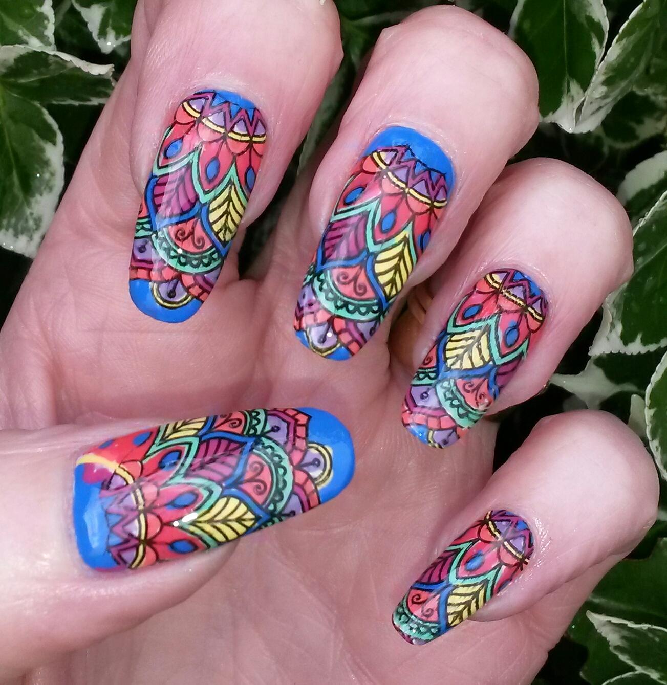Colorful No Bite Nail Pattern - Nail Art Design Ideas ...
