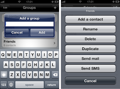 iphone contact group manager