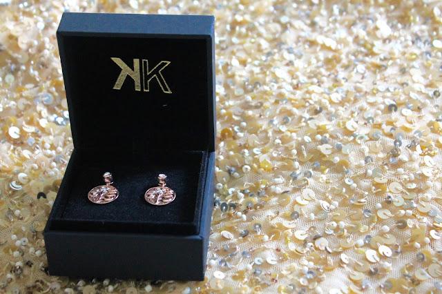 Nikki Lissoni Rose Gold Fantasy Tree Coin Earrings.
