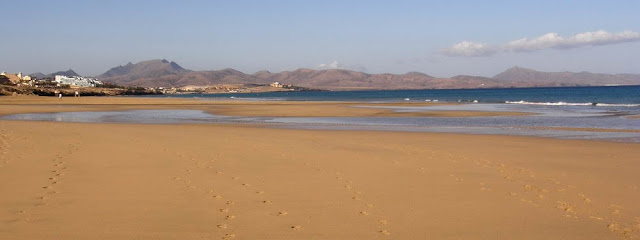 Nude beaches in Jandia (Fuertevnetura, Canary Islands, Spain)