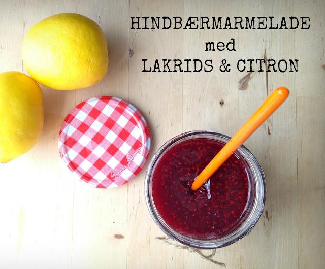 Hindbærmarmelade med lakrids og citron - Mit livs kogebog