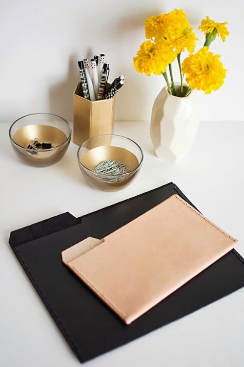 leather folders diy - design sponge