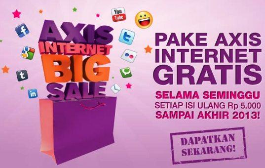 Promo Paket Internet Gratis AXIS