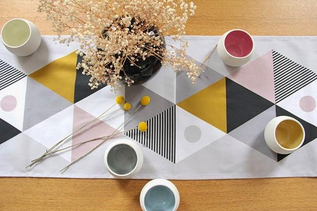 chemin de table scandinave table de cuisine. Black Bedroom Furniture Sets. Home Design Ideas