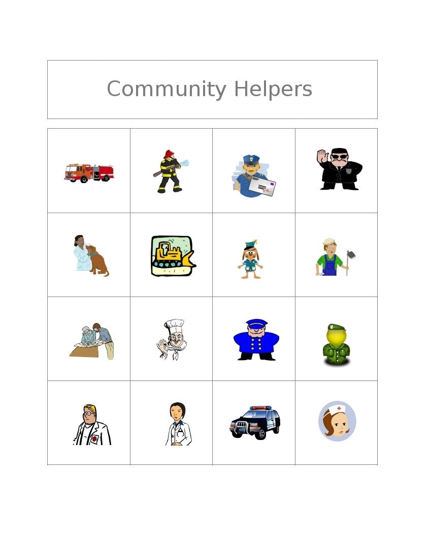 essay on community helpers