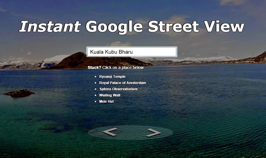 Instant Google Street View