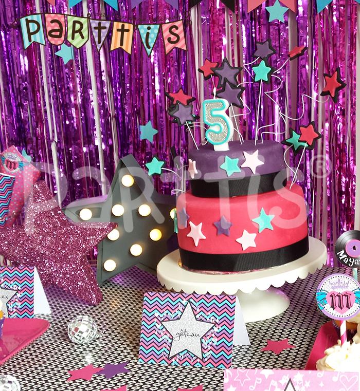 Parttis fiesta de super estrella de mayane - Decoracion con estrellas ...
