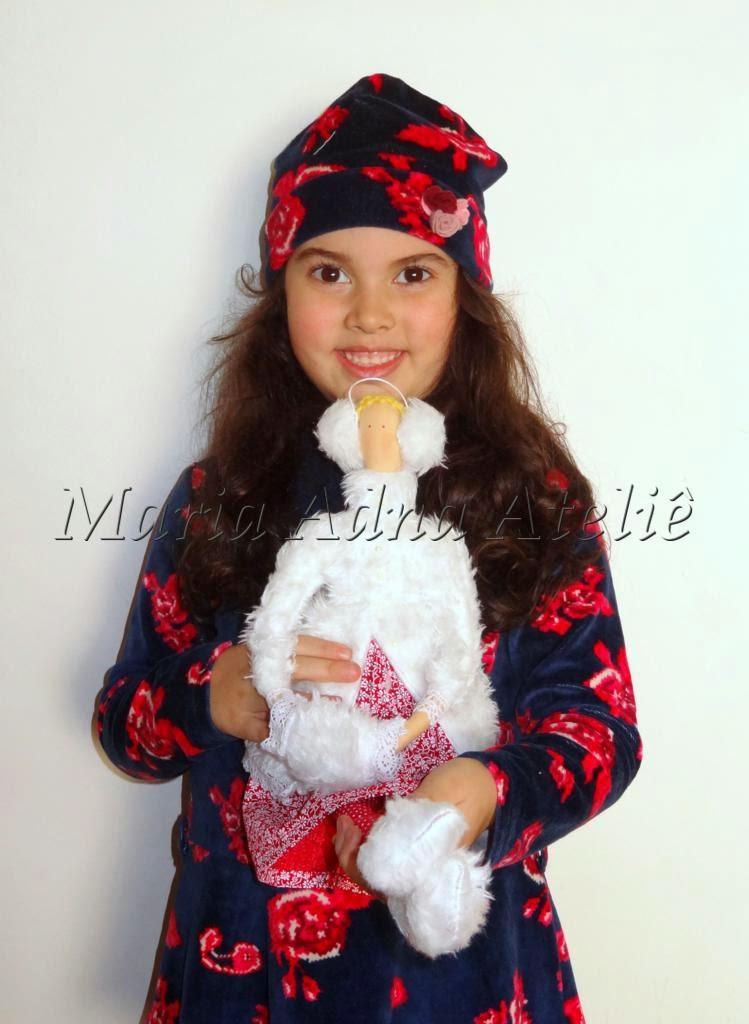 Laura Jarcew, Boneca Winter Tilda, Boneca Tilda, Boneca tecido, Boneca Pano