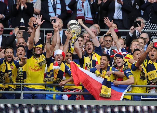 Arsenal FA Cup Final 2015 winners