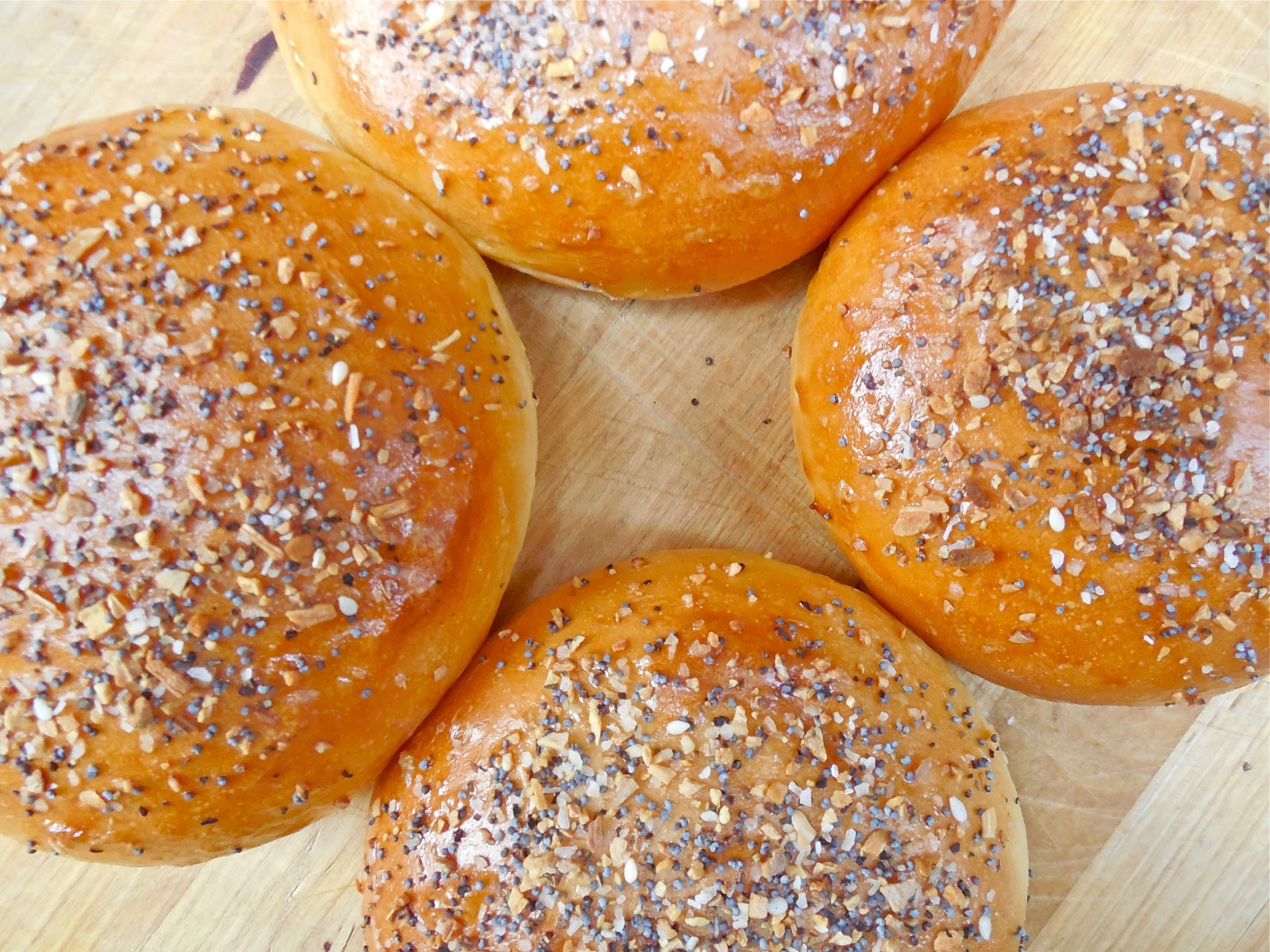 "Haute + Heirloom: ""Everything"" Brioche Burger Buns"