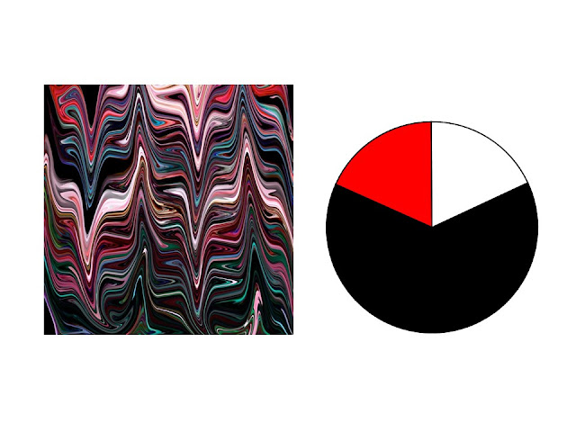 black, pink, red, teal and aqua marble patterned silk scarf with red, black and white color scheme