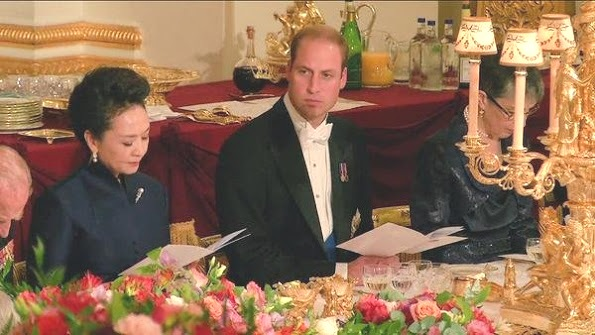 The Duke And Duchess Of Cambridge Attended The Chinese State Banquet