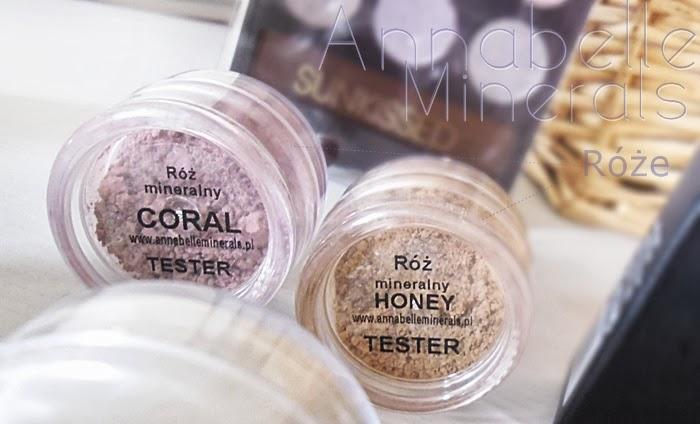 róż mineralny w kolorze coral i honey