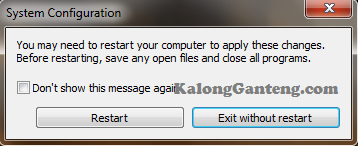 Menonaktifkan Windows Update Melalui Microsoft System Configuration