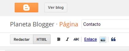 Ponemos un título a la nueva página estática que sería Contacto