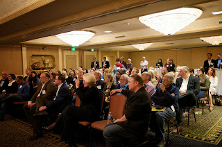 Photo of audience at a panel discussion on the future of human rights technology celebrating Martus' 10th Anniversary, Nov 6, 2013, Palo Alto, CA.