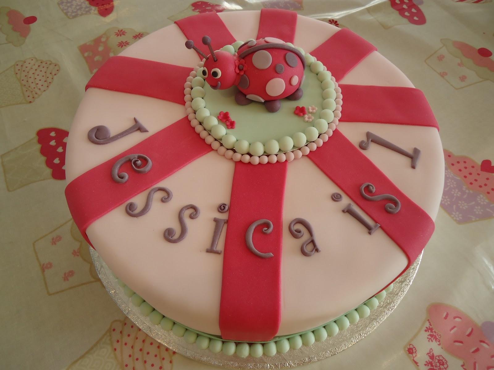 Fondant Cakes Cupcakes Pink Ladybird Cake