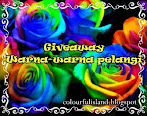 @15 april : GIVEAWAY WARNA-WARNA PELANGI