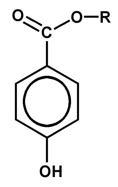 Paraben molecular representation