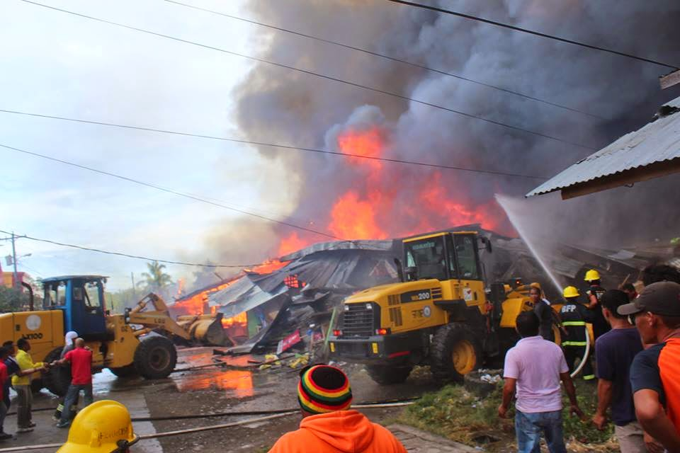 Fire breaks in Mati