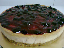 Baked blueberry cheese cake