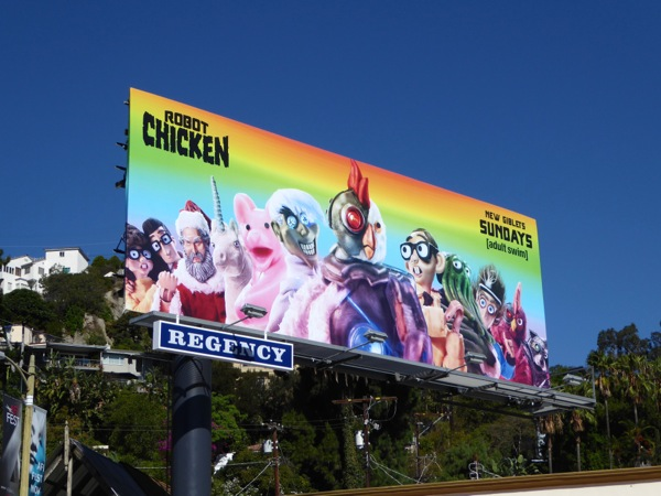 Robot Chicken 8 Adult Swim billboard