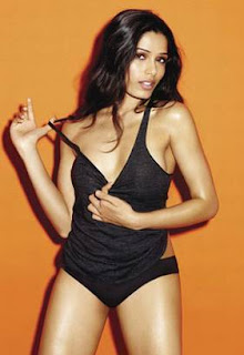 Freida pinto hot in bikini Esquire UK 2012 magazine