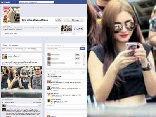 Laman Facebook Kami Sokong Liyana Manan Telah Diwujudkan