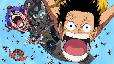 Luffy Tiba di Marineford