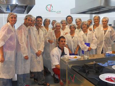 Asistentes al taller de cocina vegetariana en el CCT de Murcia.