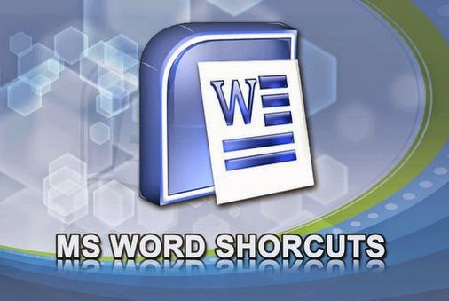 Keyboard Shortcut Keys for MS Word