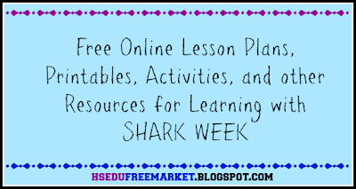 Free Online Lesson Plans and Other Resources for Shark Week