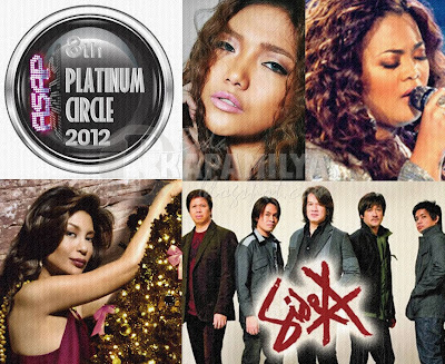 ASAP 2012 24K Gold Awards and Platinum Circle Awards this December 2, plus Charice and Cheesa