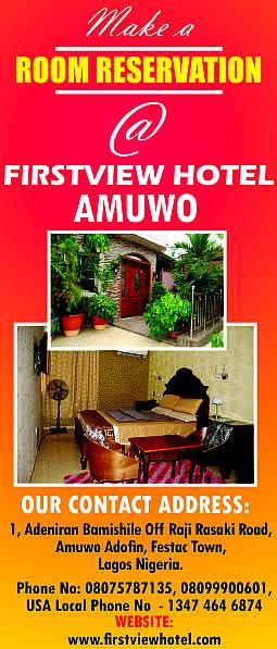 Firstview Hotel Amuwo Adofin Lagos