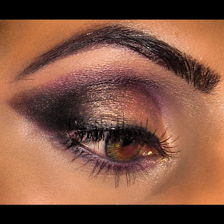 purple gold smokey, mac, makeup, blog, mac melon pigment, smoulder, blog, look carbon 5
