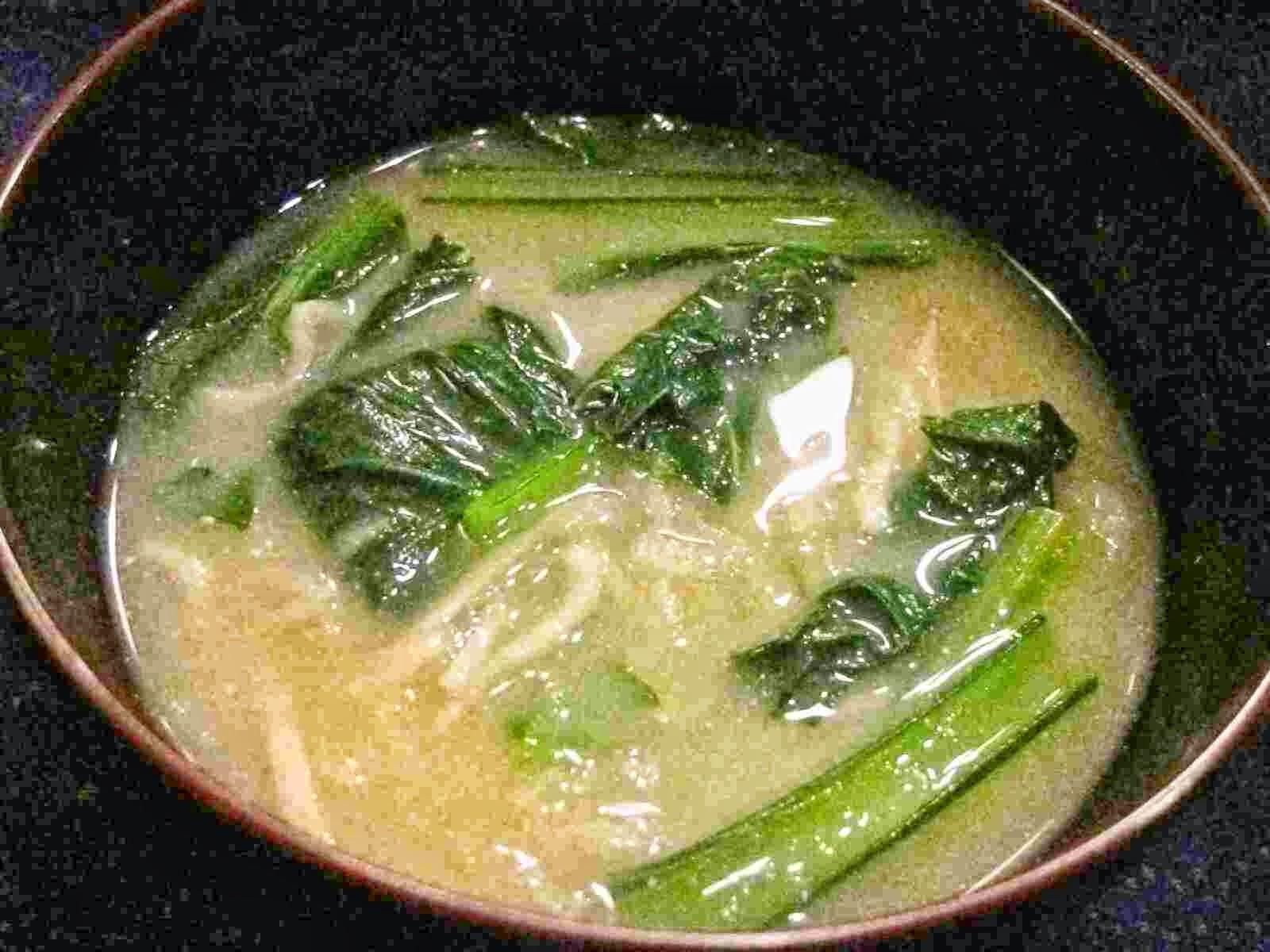 Recipes for Tom: Kiriboshi-daikon to saishin no misoshiru ...