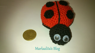 mariquita, amigurimi, crochet, ganchillo