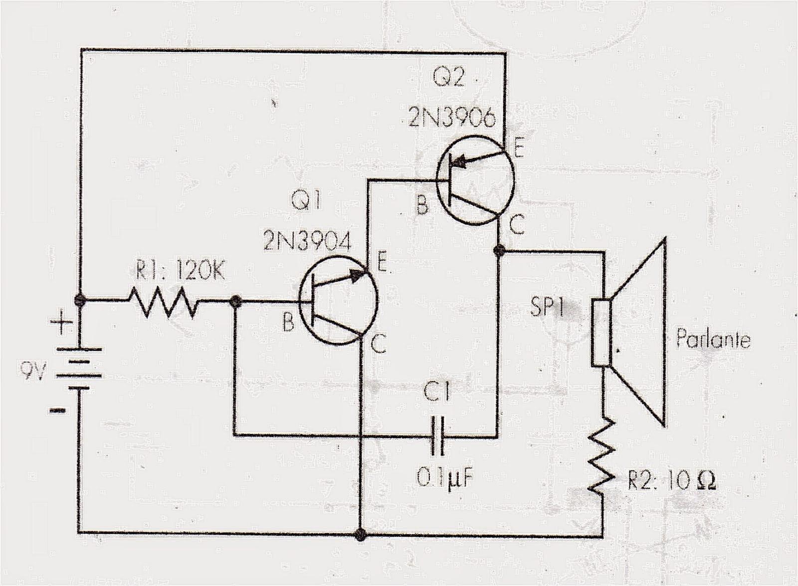 Circuito Transistor : Electronica para dummies: transistor como oscilador
