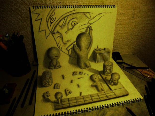 لوحات ثلاثية الأبعاد 3D+Pencil+Drawings+014