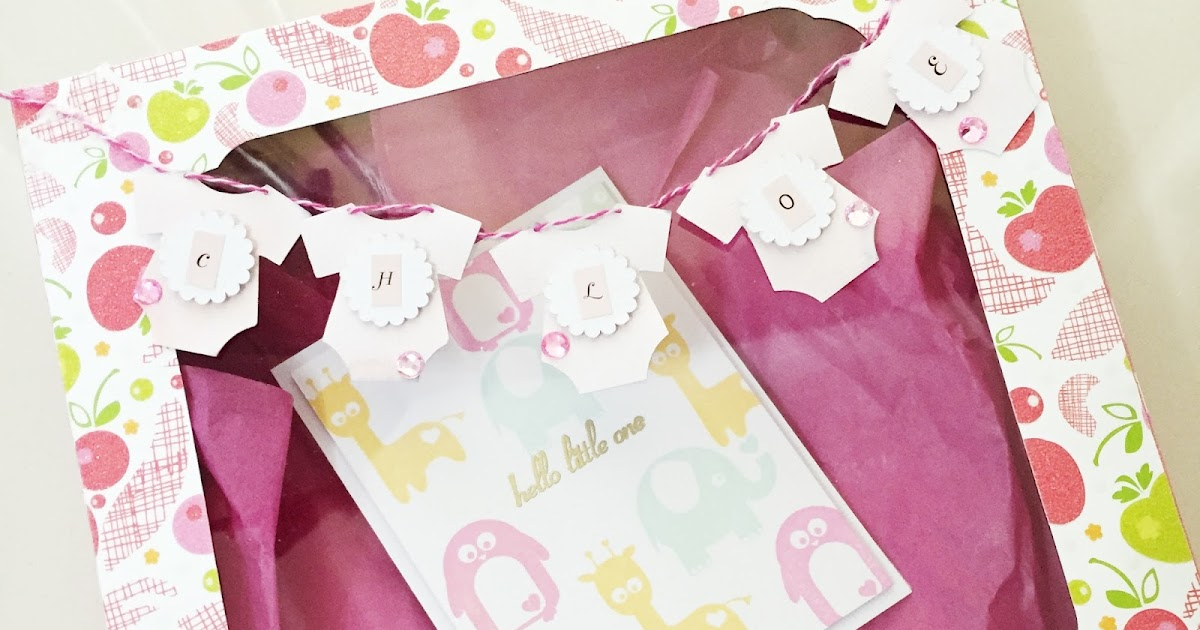 Baby onesie gift box : Svg attic baby onesies gift box with angeline