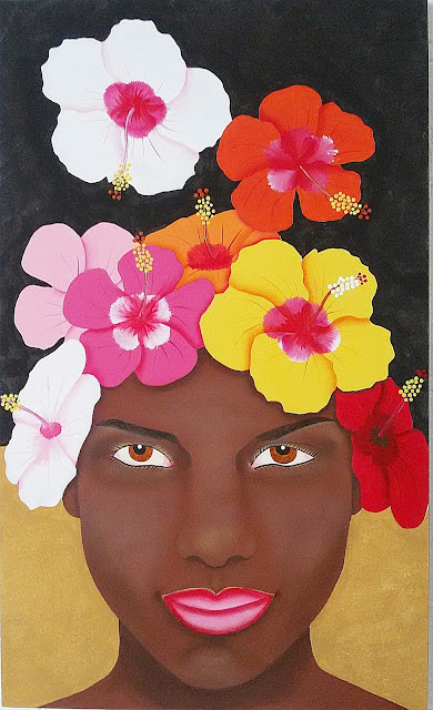 Negrita con cayenas Eleana