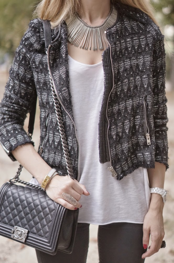 iro, topshop, chanel, alexander macqueen, streetstyle, parisienne, sequins, fashion blogger, outfit, look of the day