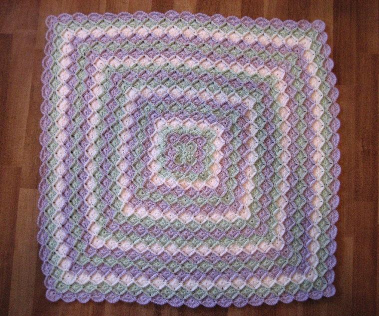 Cthulhu Crochet and Cousins: Bavarian Crochet Baby Blanket