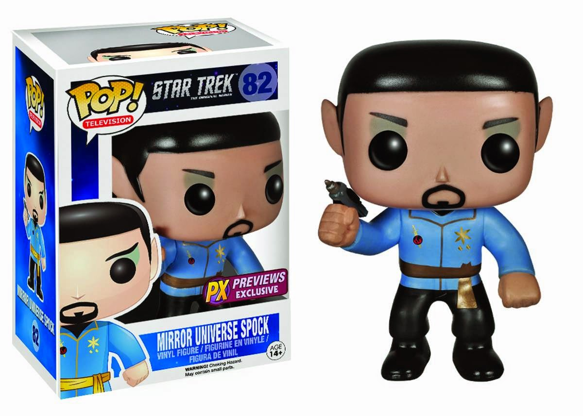 "Previews Exclusive ""Mirror Mirror"" Spock Star Trek Pop! Vinyl Figure by Funko"