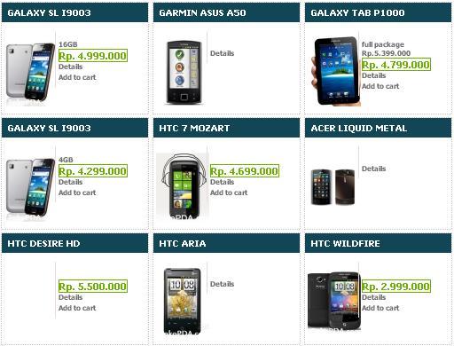 Perlu di ingat bahwa harga HP Android Samsung Terbaru 2011 diatas