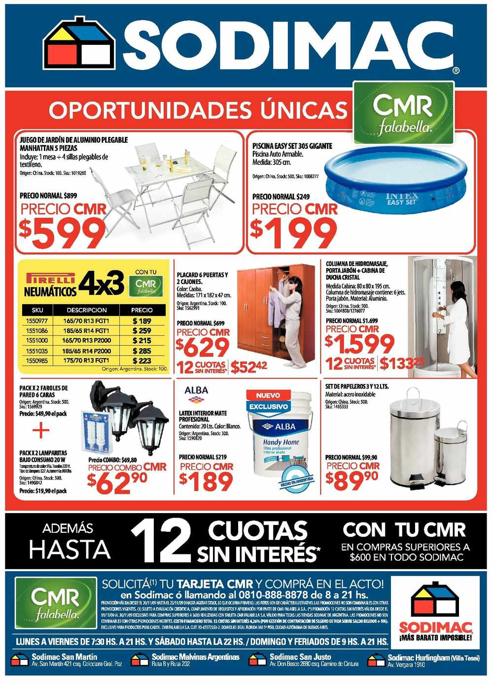 Noticias cr nica tv catalogo sodimac 2011 for Sodimac banos precios