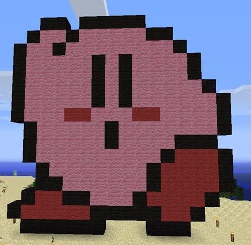 Mog Anarchys Gaming Blog Minecraft Creations Kirby Sprite Statue
