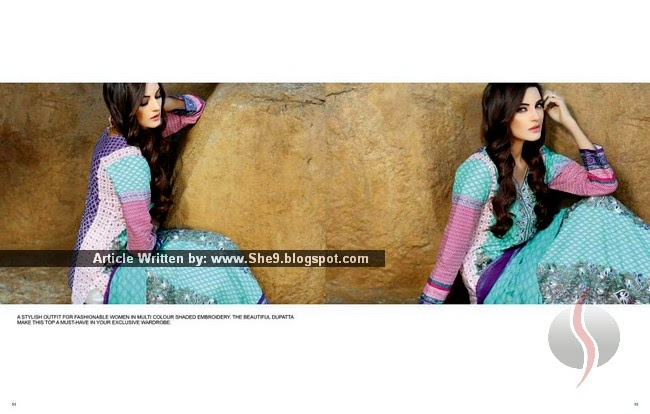 Designer Embroidered Summer Collection 2015 by Shariq