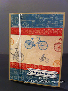 Fan Fair Birthday Card by Ida Chan Stampin' Up Vancouver